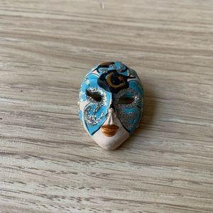 Handpainted Mask Brooch